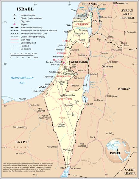Israel, zoals toegekend naar WOII